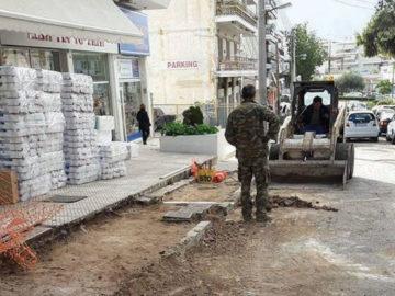 2df91590dbee Ελληνικό – Αργυρούπολη  Εντατικές εργασίες αποκατάστασης πεζοδρομίων σε όλη  την πόλη